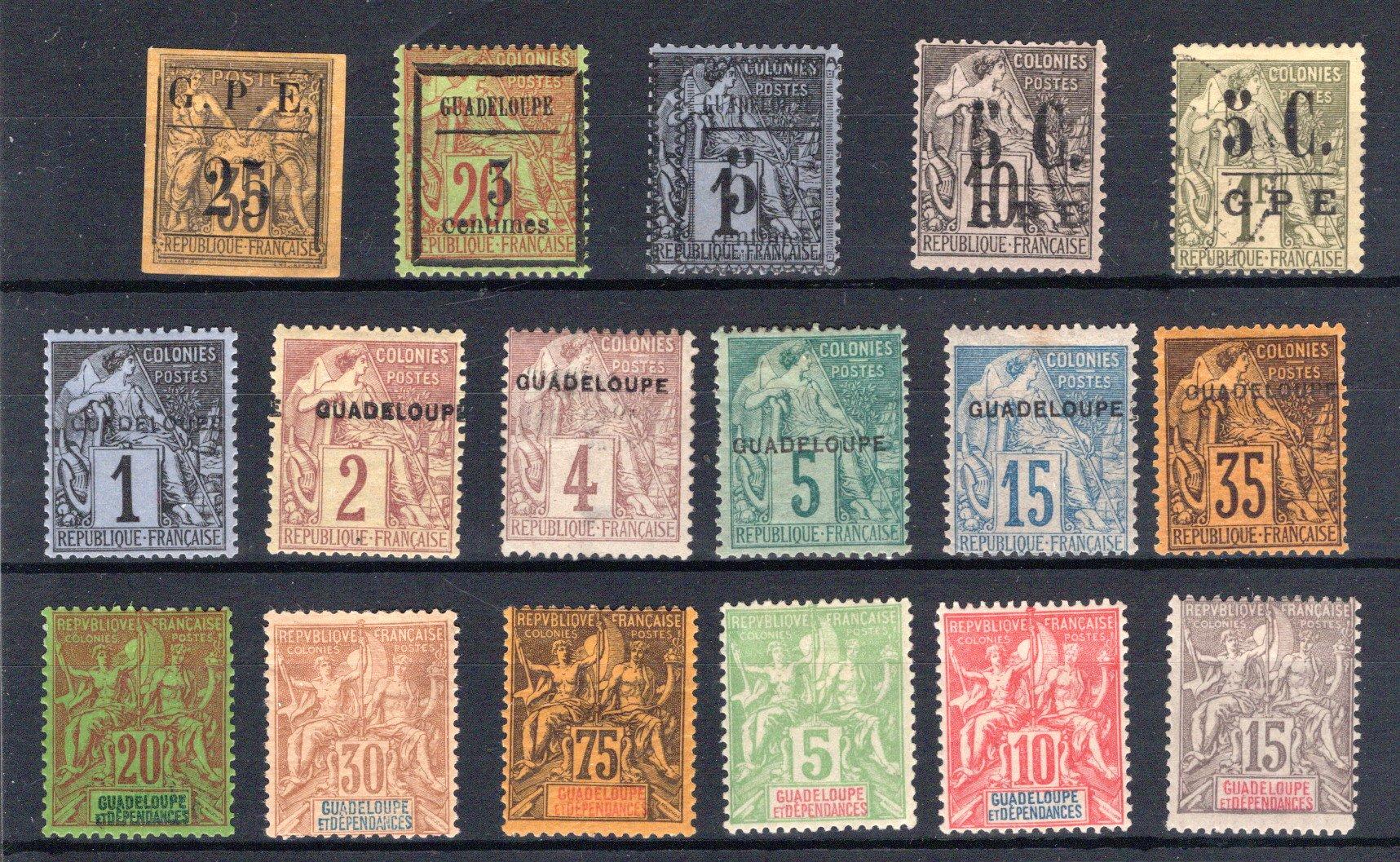 Lot 208 - FRANCE & COLONIES guadeloupe -  Georg Bühler Briefmarken Auktionen GmbH 27th mail bid auction